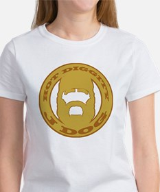 Hot Diggity J Dog gold w/ brown Women's T-Shirt