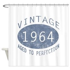 1964 Vintage Birthday (blue) Shower Curtain