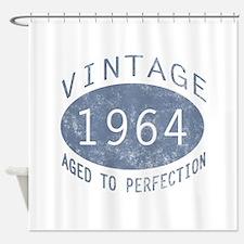 1964 Vintage Birthday (blue) Shower Curtain