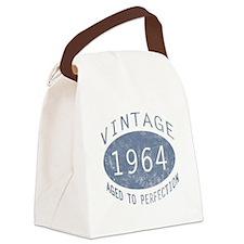 1964 Vintage Birthday (blue) Canvas Lunch Bag