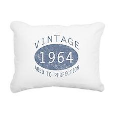 1964 Vintage Birthday (blue) Rectangular Canvas Pi