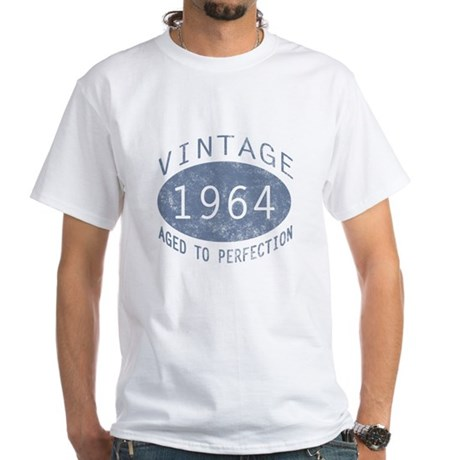 1964 Vintage Birthday (blue) White T-Shirt