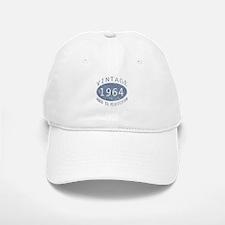 1964 Vintage Birthday (blue) Baseball Baseball Cap