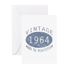1964 Vintage Birthday (blue) Greeting Card