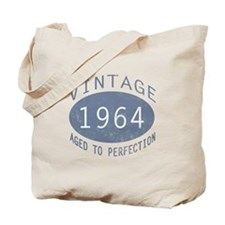 1964 Vintage Birthday (blue) Tote Bag
