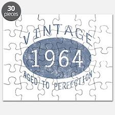 1964 Vintage Birthday (blue) Puzzle