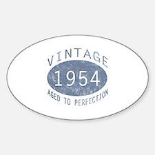 1954 Vintage Birthday (blue) Decal