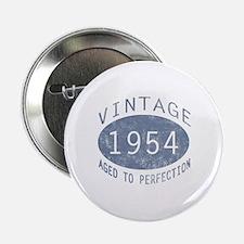 """1954 Vintage Birthday (blue) 2.25"""" Button"""