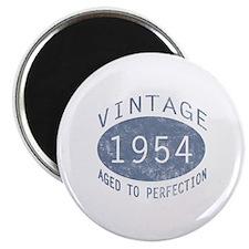 "1954 Vintage Birthday (blue) 2.25"" Magnet (10 pack"