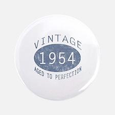 """1954 Vintage Birthday (blue) 3.5"""" Button"""