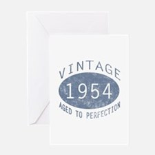 1954 Vintage Birthday (blue) Greeting Card