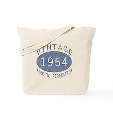1954 Vintage Birthday (blue) Tote Bag