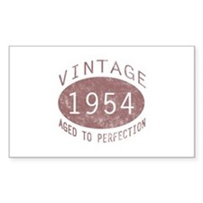 1954 Vintage Birthday (red) Decal
