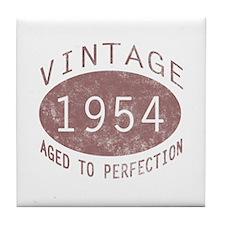 1954 Vintage Birthday (red) Tile Coaster