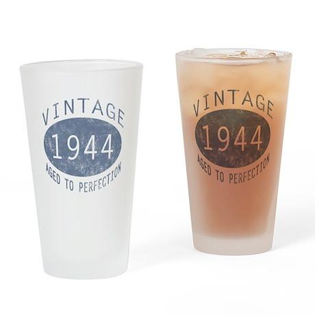 1944 Vintage Birthday (blue) Drinking Glass
