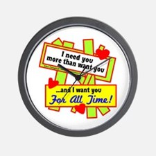 Want You For All Time-Glen Campbell Wall Clock