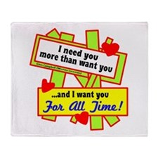 Want You For All Time-Glen Campbell Throw Blanket