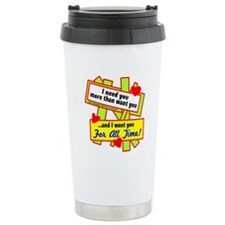 Want You For All Time-Glen Campbell Travel Mug