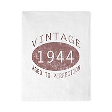 1944 Vintage Birthday (red) Twin Duvet