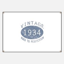 1934 Vintage Birthday (blue) Banner