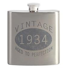 1934 Vintage Birthday (blue) Flask