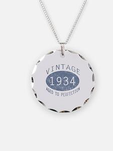 1934 Vintage Birthday (blue) Necklace