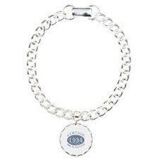 1934 Vintage Birthday (blue) Bracelet