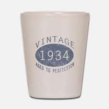 1934 Vintage Birthday (blue) Shot Glass