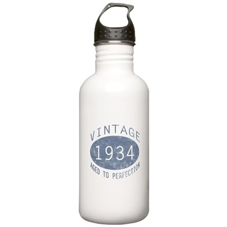 1934 Vintage Birthday (blue) Stainless Water Bottl