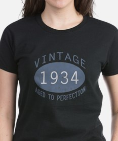 1934 Vintage Birthday (blue) Tee