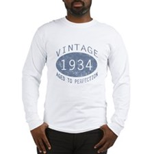 1934 Vintage Birthday (blue) Long Sleeve T-Shirt