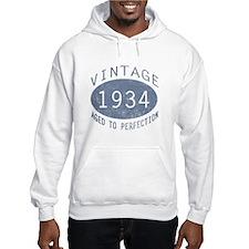 1934 Vintage Birthday (blue) Hoodie