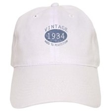 1934 Vintage Birthday (blue) Baseball Cap