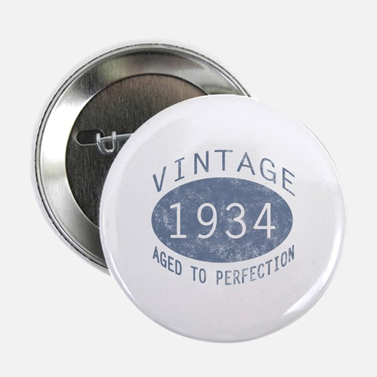 "1934 Vintage Birthday (blue) 2.25"" Button"