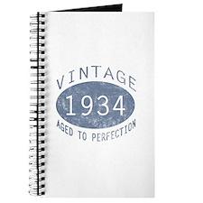 1934 Vintage Birthday (blue) Journal