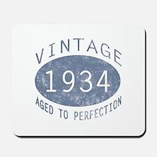 1934 Vintage Birthday (blue) Mousepad