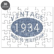 1934 Vintage Birthday (blue) Puzzle