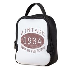 1934 Vintage Birthday (red) Neoprene Lunch Bag