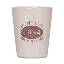 1934 Vintage Birthday (red) Shot Glass