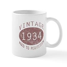 1934 Vintage Birthday (red) Mug