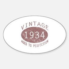 1934 Vintage Birthday (red) Decal