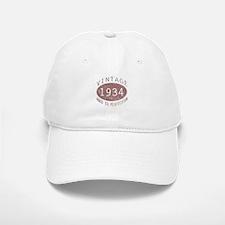1934 Vintage Birthday (red) Baseball Baseball Cap
