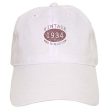 1934 Vintage Birthday (red) Baseball Cap