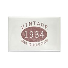 1934 Vintage Birthday (red) Rectangle Magnet