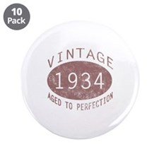"1934 Vintage Birthday (red) 3.5"" Button (10 pack)"