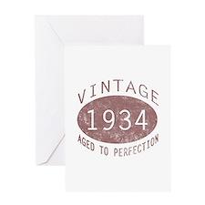 1934 Vintage Birthday (red) Greeting Card