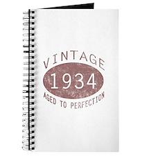 1934 Vintage Birthday (red) Journal