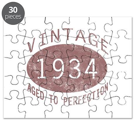 1934 Vintage Birthday (red) Puzzle