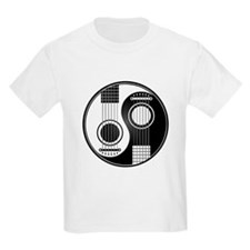 White and Black Yin Yang Acoustic Guitars T-Shirt