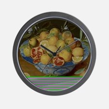 Still Life with Lemons, Oranges and a P Wall Clock